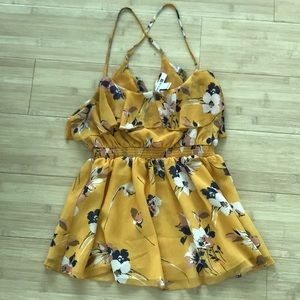 Yellow Floral Pendulum Top